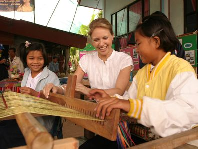 Livinia Nixon working with World Vision in Thailand following the 2004 tsunami.