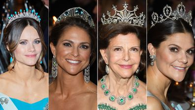 Swedish royals tiaras