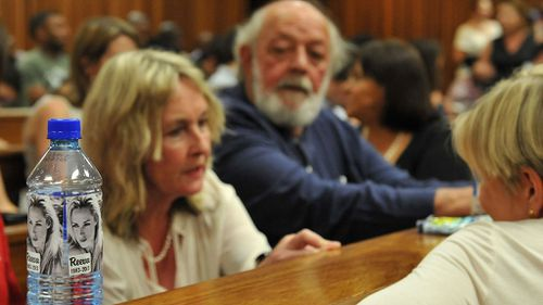 Reeva Steenkamp's parents, Barry and June, on the third day of sentencing. (AAP)