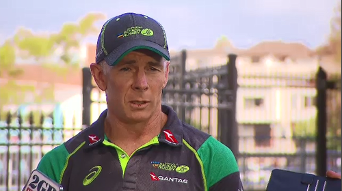 Australian Rugby Sevens head coach Andy Friend said it felt like the world stopped when he saw team captain James Stannard attacked in Sydney's eastern suburbs yesterday. Picture: 9NEWS.