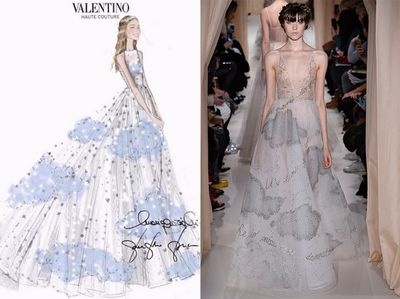 <p>Dress two: Valentino</p>