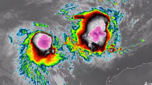Two tropical storms develop off the WA coast.