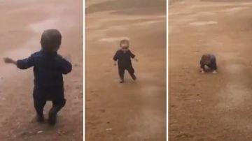 190502 Drought news Australia toddler rain dance