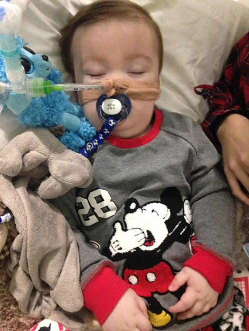 Terminally ill UK toddler Alfie Evans has died, aged just 23-months, after years of battling chronic seizures. Picture: AAP.