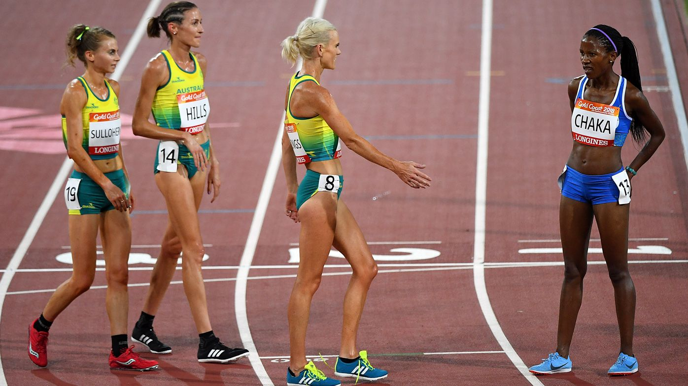 Australian runners in 10,000m final produce touching act of sportsmanship clapping in last-placed Lineo Chaka from Lesotho