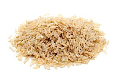 Brown rice: 1 cup has 36g carbs, 5g fibre, 211 calories