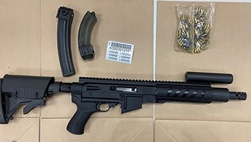 One of the weapons seized by police.