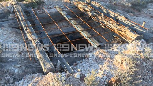 The mine shaft that Ms Charty fell into. (9NEWS)
