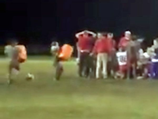 Water cooler celebration goes horribly wrong