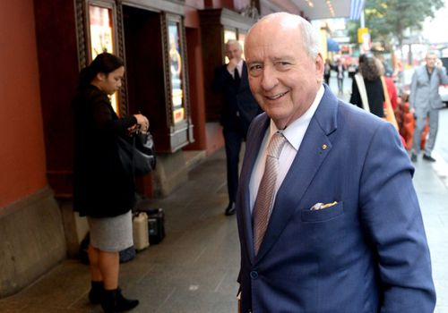 Alan Jones was among the guests saying farewell to Miller. Image: AAP