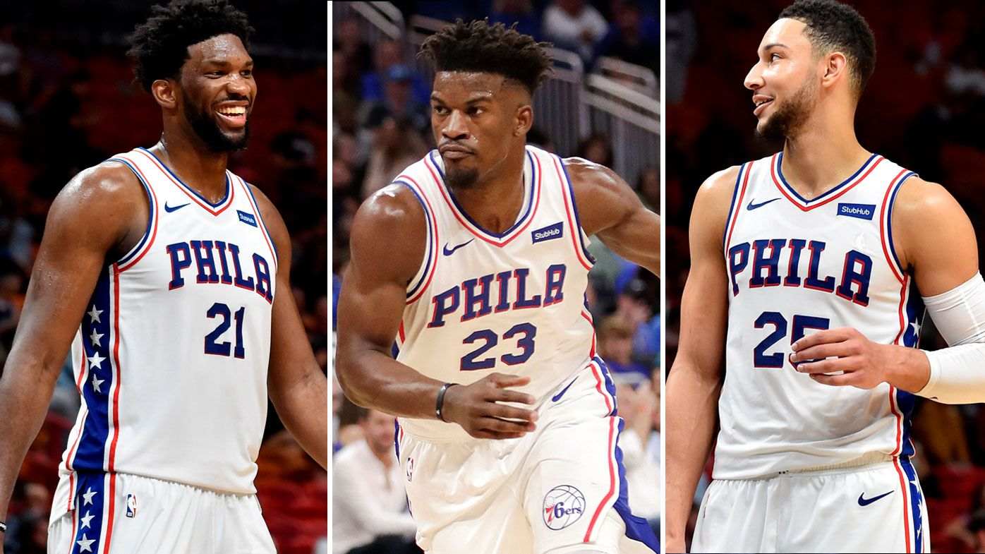 daff558f515c Jimmy Butler Ben Simmons  Philadelphia 76ers debut headlined by ...