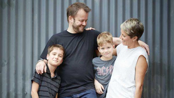 Jeremy Strode and family