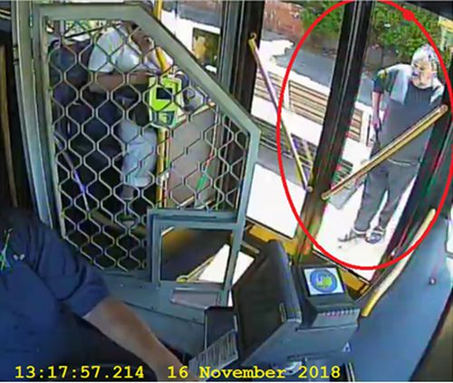 The man boarded the bus at Station Street in Thornbury.