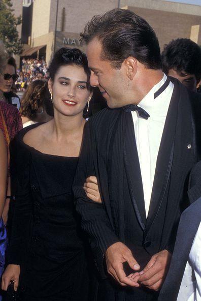 Demi Moore, Bruce Willis, relationship timeline, Emmys