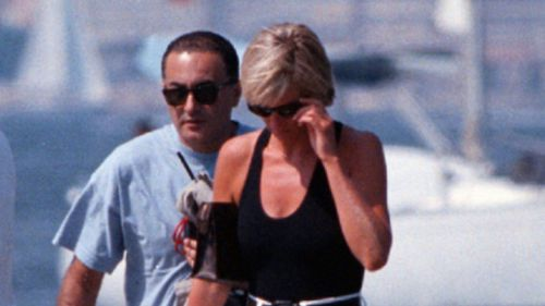Dodi Fayed and Princess Diana in 1997. (AAP)