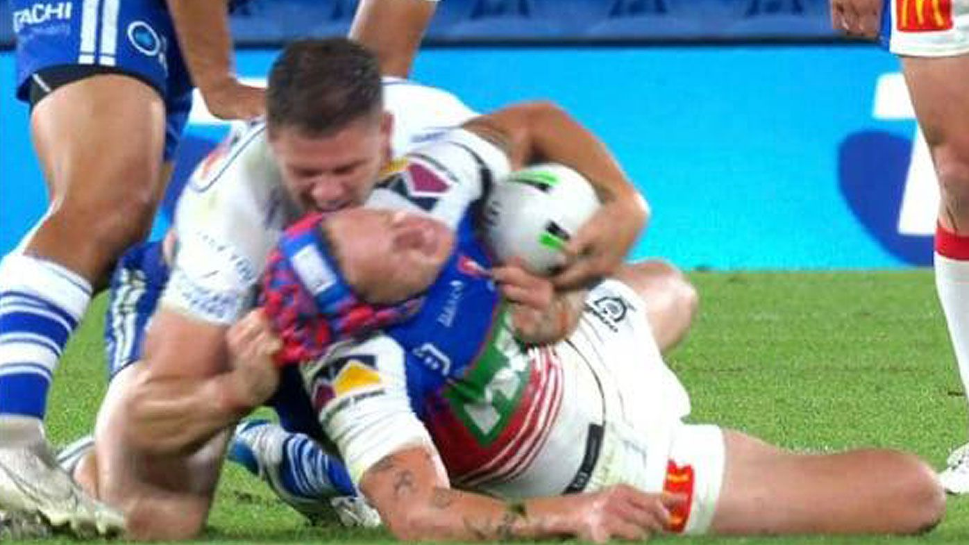 Knights lock up finals berth as Bulldog placed on report for Ponga headgear pull