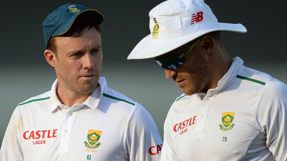 AB de Villiers and Faf du Plessis have been friends since school. (AAP)