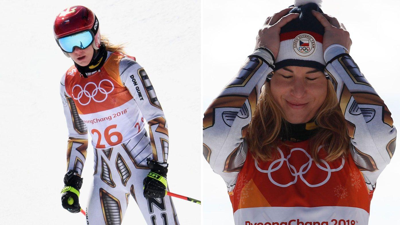 Czech Republic's Ester Ledecka takes shock super-G gold at Winter Olympics