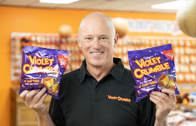 Violet Crumble new flavour. Phil Sims, CEO of Robern Menz