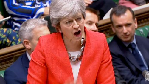 UK Prime Minister Theresa May addresses parliament ahead of significant vote.