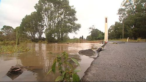 Flooding in Mullumbimby. (9NEWS)