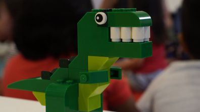 LEGO Masters host Hamish Blake visits some very special LEGO fans