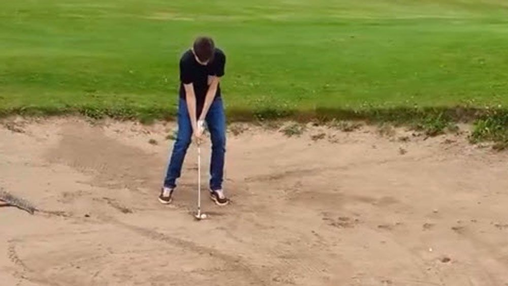 Amateur gets stuck in inescapable bunker
