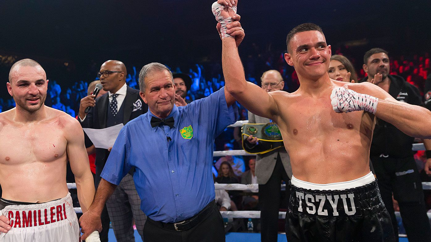 Australian boxer Tim Tszyu defeats Joel Camilleri