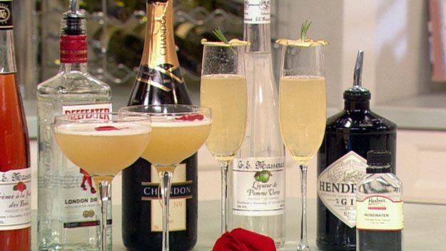 Rose petal martini and Apple & Rose '75
