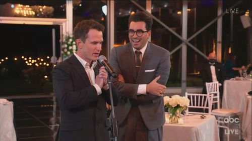 Dan Levy wins three Emmy awards in a row.
