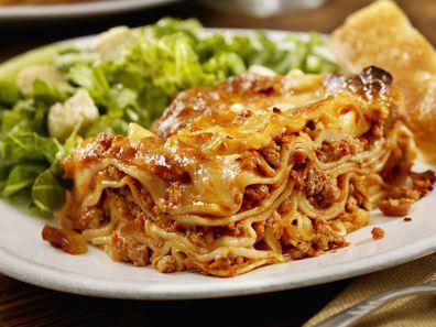 Slice of lasagne