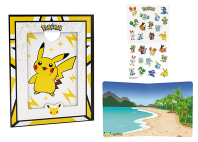 McDonald's Australia Pokemon Happy Meal picture frame and stickers