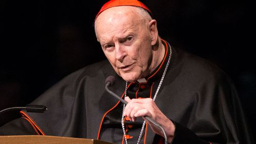 """The pope has ordered McCarrick's """"suspension from the exercise of any public ministry, together with the obligation to remain in a house yet to be indicated to him, for a life of prayer and penance"""" (AP/AAP)"""