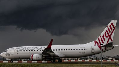 A Virgin Aircraft at Sydney's Kingsford Smith Airport. The company is launching a vaccination contest.