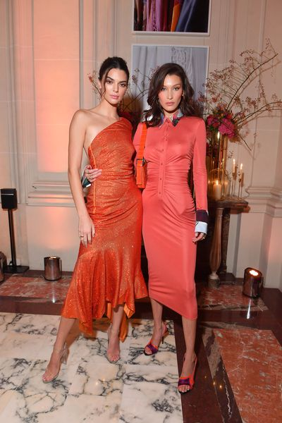 Kendall Jenner and Bella Hadid attend the YouTube cocktail party during PFW