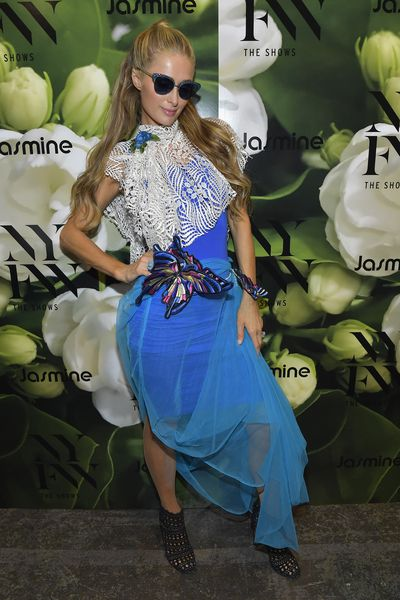 Paris Hilton at the Jasmine fashion show for New York Fashion Week,  September 8, 2018