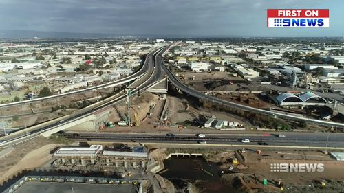 The Northern Connector will link the South Road Superway with the Northern Expressway. Picture: 9NEWS