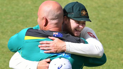 Lehmann and Smith in happier times. (AAP)