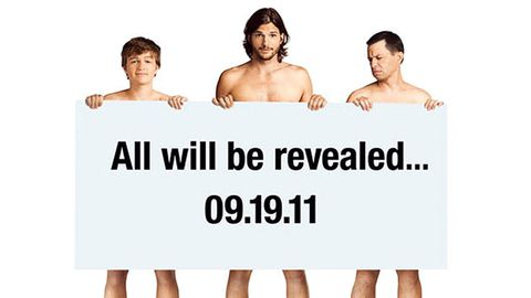 Ashton Kutcher gets naked for Two and a Half Men