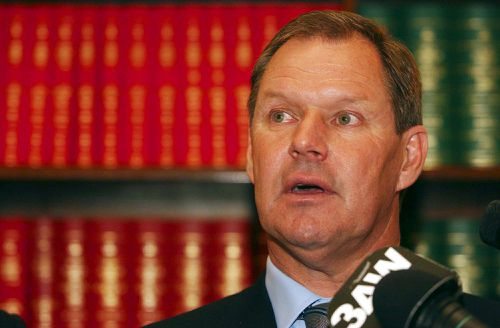 Robert Doyle after being elected as the leader of the Victorian Liberal party in 2002. (AAP)