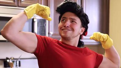 Kurt Tocci viral video Disney characters in quarantine