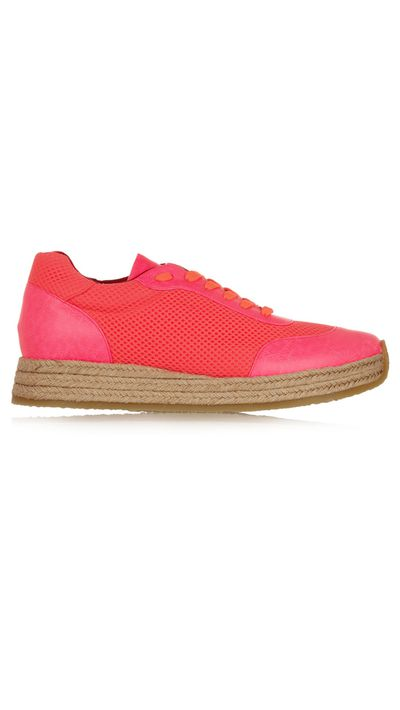 """<a href=""""http://www.theoutnet.com/en-AU/product/Stella-McCartney/Neon-faux-leather-and-mesh-espadrille-sneakers/484929"""" target=""""_blank"""">Sneakers, approx. $294, Stella McCartney at theoutnet.com</a>"""