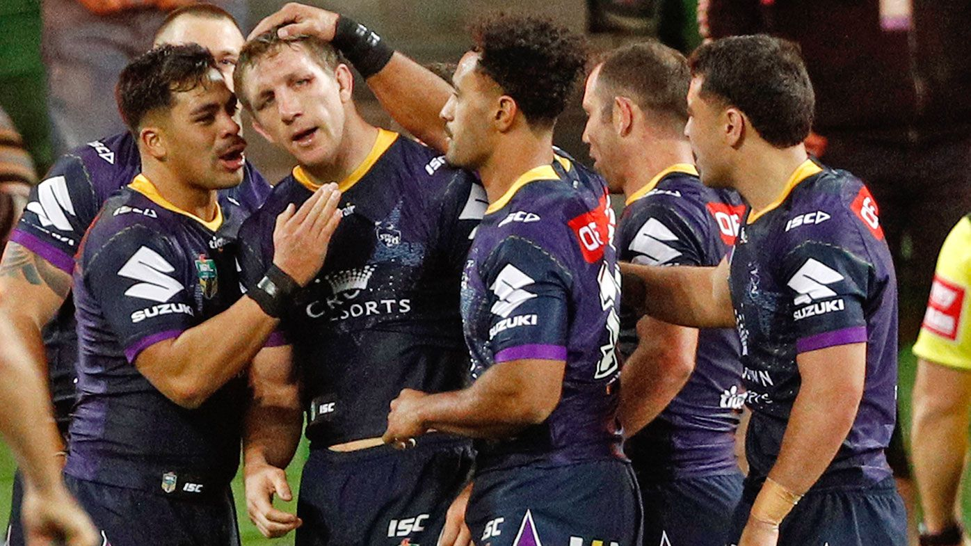 Storm blow away Dragons in NRL