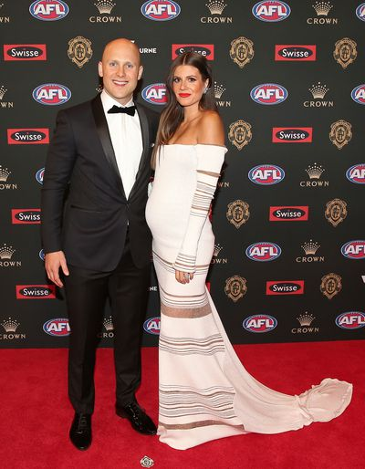 Gary Ablett Jr. and wife Jordan at the 2018 Brownlow Medal, September, 2018