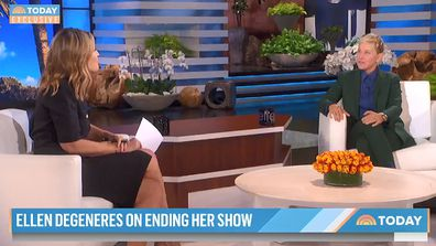 Ellen DeGeneres talks to TODAY's Savannah Guthrie