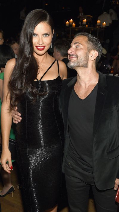 <p>Adriana Lima and Marc Jacobs.</p>