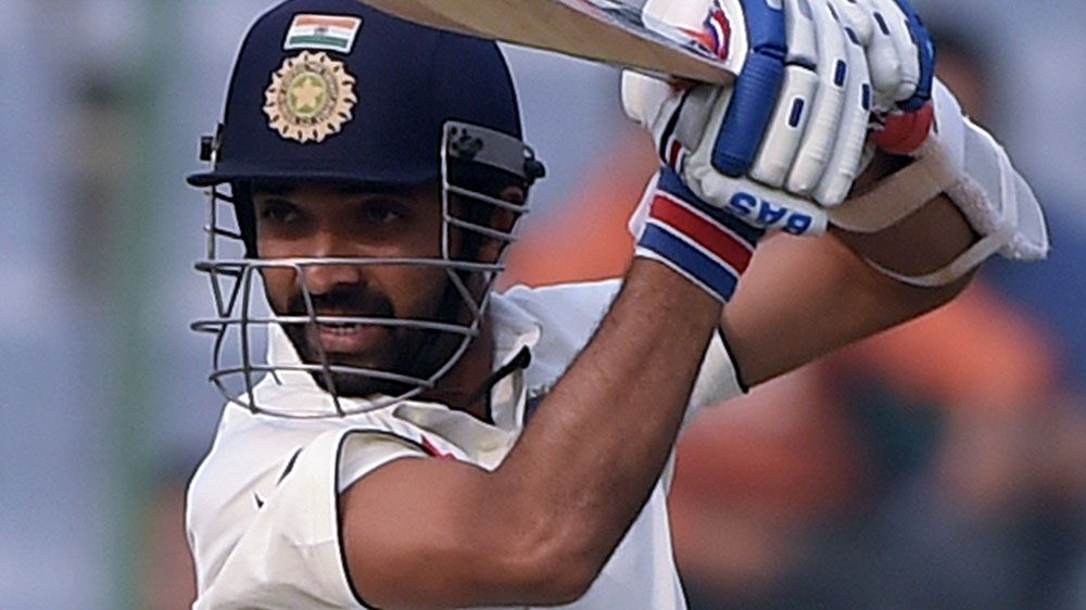 Ajinkya Rahane was unbeaten on 89 for India at stumps on day one. (AFP)