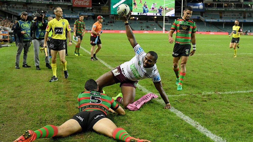 Manly's Uate scores four in Souths rout