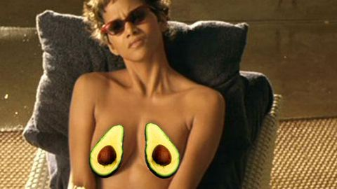 Ole! Halle Berry dipped her bare breast into guacamole on movie set