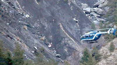 The plane slammed into the French Alps mountainside at a speed of 700 km/h. All 150 people on board were killed. (AAP)